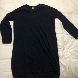 Navy blue tunic sweater